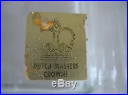 VTG Glass Box Humidor Dutch Masters Crowns Cigar Tobacco original sticker seal