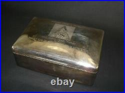 Very Rare Sterling Silver Hinged Humidor given to Gov. Edmund Brown, Circa 1963