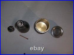 Vintage 1921 Cigar Humidor Match Safe Champagne Bottle Quadruple Silver Plate