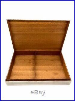 Vintage 1970s Large Hermes Maria Pergay Silver Brass Cigarette Valet Box