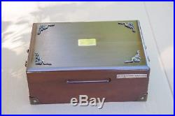Vintage A. DUNHILL Solid Wood Cigar box humidor A4