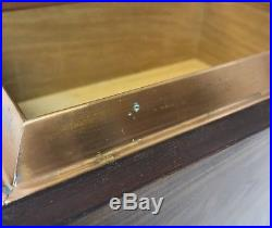 Vintage Alfred Dunhill Large Wood Cigar Humidor 15x11x7 Copper Nice Condition