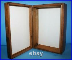 Vintage/Antique Mahogany Humidor Box with Milk Glass Liner