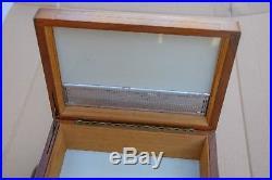 Vintage BENSON & HEDGES Solid Wood Walnut Cigar box 11x8x4 1/4 humidor A3