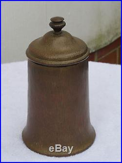 Vintage Bradley and Hubbard Brass Textured Humidor C. 1920-30's VG condition