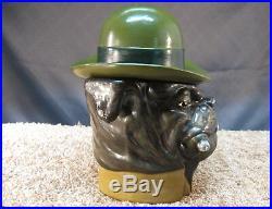 Vintage Bulldog Cigar Smoking Dog Humidor Tobacco Xonex White Ash Numbered, Rare