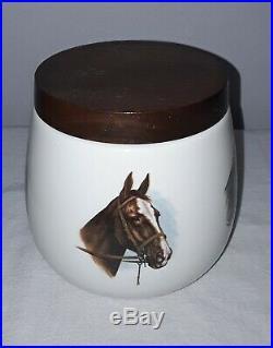 Vintage Dunhill Equestrian Horses Tobacco Jar Humidor Unmarked