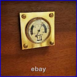 Vintage Dunhill Humidor High Gloss Inlay Wood Box 12 x 10 x 6