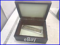 Vintage Dunhill Humidor Wood Cigar 11.5x9x5.5