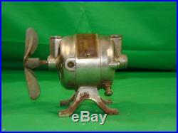 Vintage Electric Fan Motor 4 Hamilton Beach Cast Iron Base old Cigar Humidor