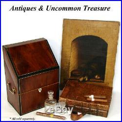 Vintage Französisch Leder Gebunden Bücher Smoker S Box für Zigarren, Histoire De