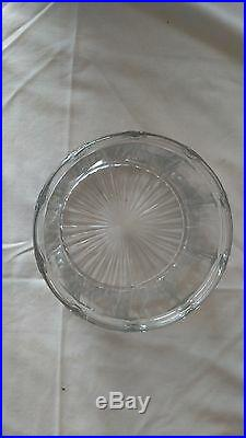 Vintage Glass Imperial Cube Cut Pipe Tobacco Jar