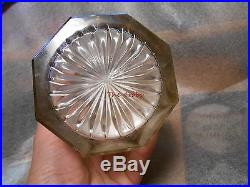 Vintage Glass & Silver Plated Ornate Tobacco Humidor