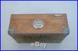 Vintage H. UPMANN Solid Wood Humidor Cigars Box 10 x 7 1/4 x 4 1/2 G4001