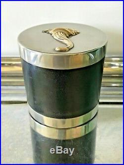 Vintage Hermes Silver Cornucopia Humidor Cigarette Box Storage Valet 50s