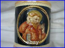 Vintage Majolica Tobacco Jar Humidor Art Pottery Urn withLid