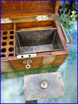 Vintage Oak Smokers Cabinet Or Chest. Cigar Humidor