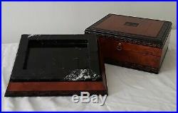 Vintage Roma Cigar Humidor Marble Ashtray Pair Elegant Collectors