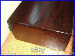 Vintage Solid Mahogany Tobacco & Cigars Humidor