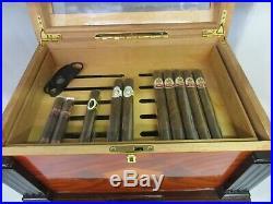 Vintage Tobacco Cigar Thompson Co 1915 Humidor Wood Beautiful M-732