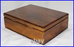 Vintage Walnut Cigar Humidor by Woodsmen Beautiful Made in USA 11.5 by 9 inch