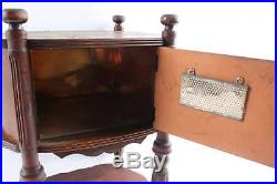 Vintage Wood Smoke Stand Tobacco Pipe Copper Lined & Humidifier