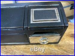 Vintage leather necessaire de voyage by hermes paris cigar humidor case for car