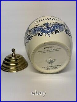 Virginia Williamsburg Reproduction Tobacco Jar Apothecary with Original Lid