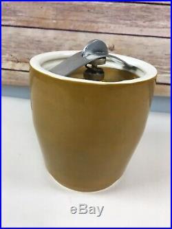Vtg Comoys of London Tobacco Jar Crock Humidor Smoking England Airtight