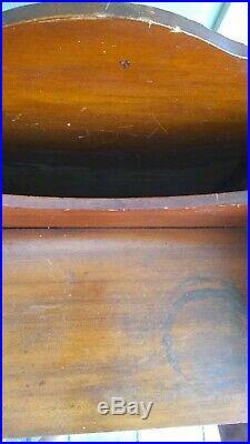 Vtg Wooden Humidor Smoking Stand Magazine Rack Bathroom Cabinet Side Table Ships