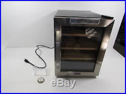Whynter CHC-122BD Elite Touch Control Stainless Cigar Cooler Humidor, Black