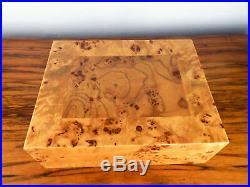 Wooden Birds Eye Maple Wood Humidor Cigar Box Man Cave Decor Birthday Gift