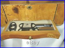 Wooden Birds Eye Maple Wood Humidor Cigar Box with drawers & KEYS GORGEOUS