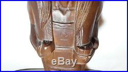 Wooden Cigar Store Indian Advertising Wood Carved. Tobacco Pipe & Humidor