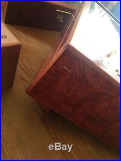 XL Davidoff Präsentation Humidor, inkl. Davidoff Zigarrenschere vergoldet, High End