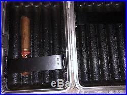Zero Haliburton The Diplomat Cigar case 9x6 Holds 10 Cigars