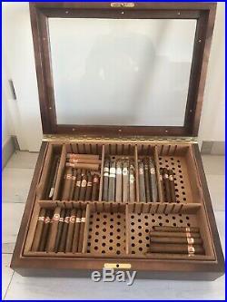 Zino Davidoff Präsentation Humidor mit Zino Zigarren Schere, Superb
